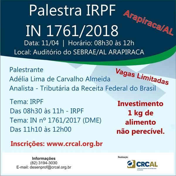PalestraIRPF_Arapiraca